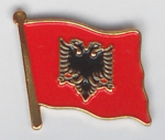 Albania Country Flag Enamel Pin Badge